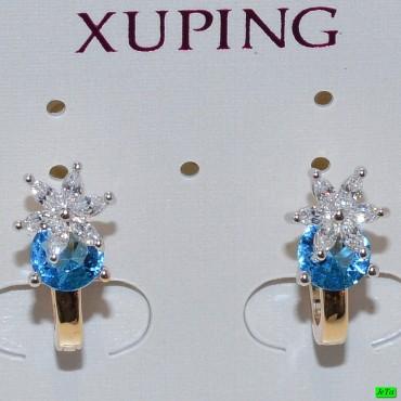 xp сережки (01-53) голубой 1шт.