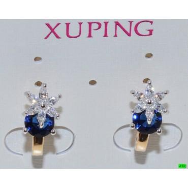 xp сережки (01-53) синий 1шт.