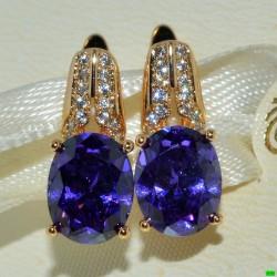 xp сережки (01-63) фиолет 1шт.