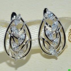 xp сережки (02-34) серебро 1шт.