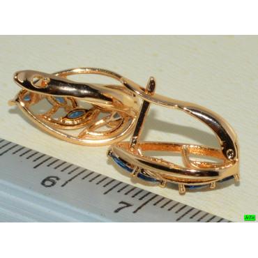 xp сережки (02-34) золото 1шт.