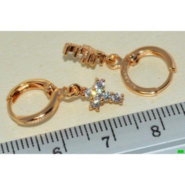 xp сережки (02-43) золото 1шт.