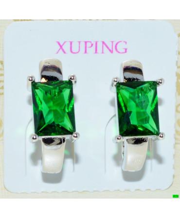 xp сережки (02-52) зелень 1шт.
