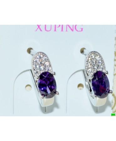 xp сережки (01-74) фиолет 1шт.