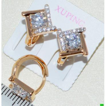 xp сережки (02-53) золото 1шт.