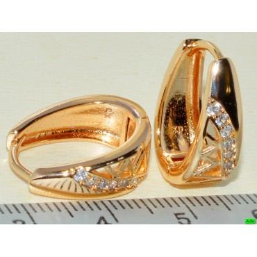 xp сережки (02-67) золото 1шт.