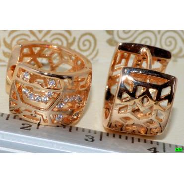 xp сережки (02-94) золото 1шт.