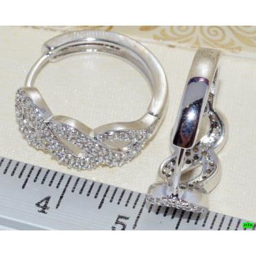 xp сережки (02-36) серебро 1шт.