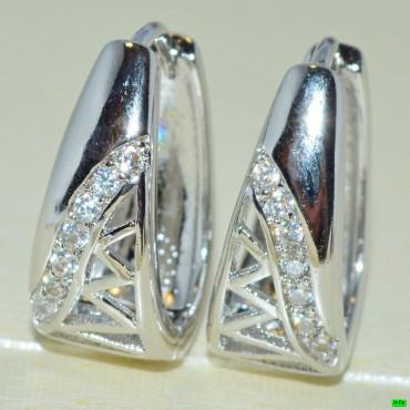 xp сережки (02-67) серебро 1шт.