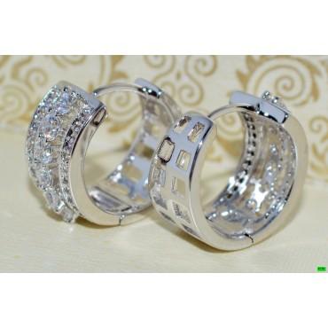 xp сережки (02-07) серебро 1шт.