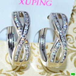 xp сережки (02-72) серебро 1шт.