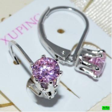 xp сережки (02-45) розовый 1шт.