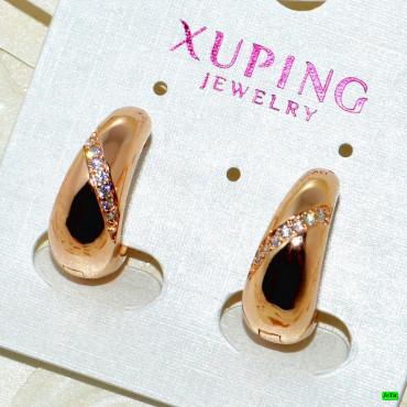 xp сережки (01-14) золото 1шт.