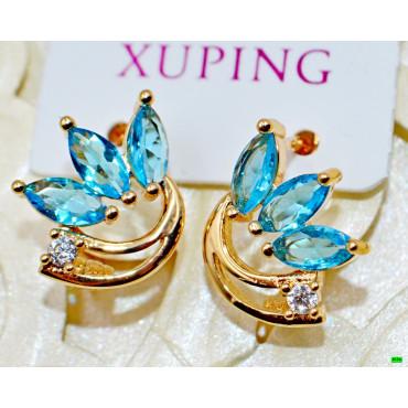 xp сережки (02-05) голубой 1шт.
