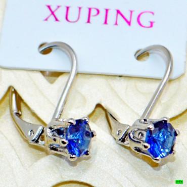 xp сережки (02-45) синий 1шт.
