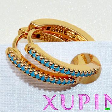 xp сережки (02-16) голубой 1шт.