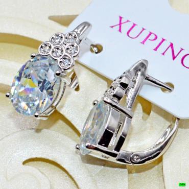 xp сережки (02-21) серебро 1шт.