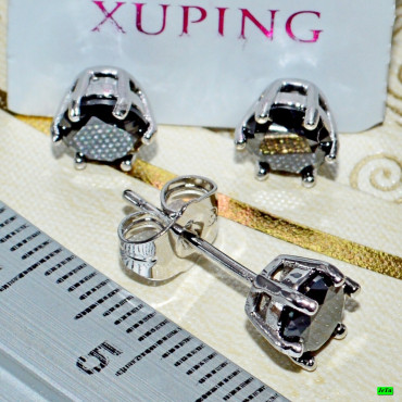 xp сережки (00-88) черный 1шт.