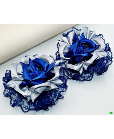 бантик (01-11) синий 2шт.