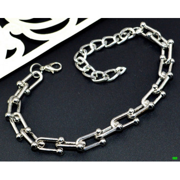 браслет (02-24) серебро 1шт.