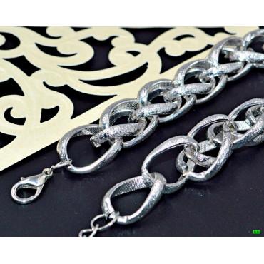 браслет (02-23) серебро 1шт.