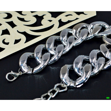 браслет (02-21) серебро 1шт.