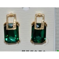 серьги (07-71) зелень 1шт.