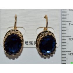 серьги (07-75) синий 1шт.