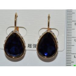 серьги (07-76) синий 1шт.