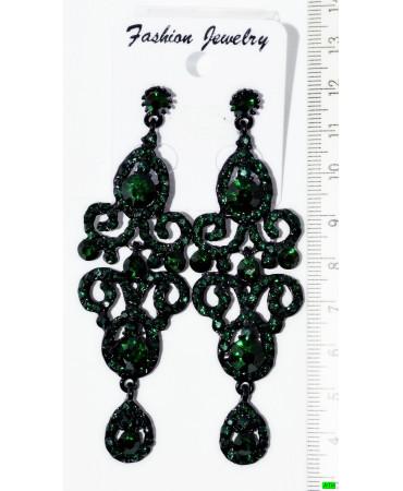 серьги (01-68) зелень 1шт.