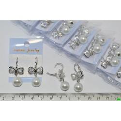 серьги (07-81) серебро 4шт.