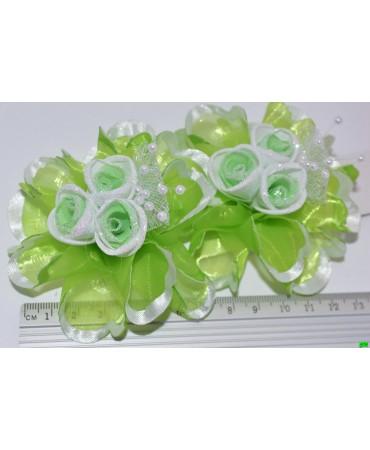 бантик (01-12) зелёный 2шт.
