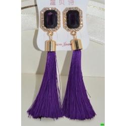 серьги (07-88) фиолет 1шт.