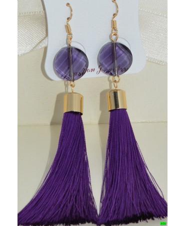 серьги (07-90) фиолет 1шт.