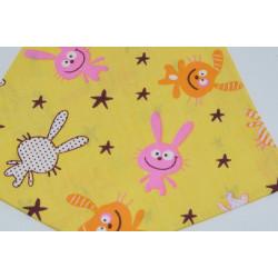 бандана-косынка (01-34) жёлтый 1шт.