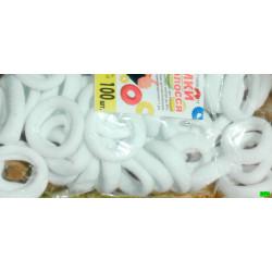резинка (02-95) белая 100шт.