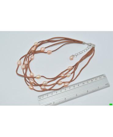 бусы (01-14) коричневый 1шт.