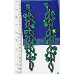 серьги (01-07) зелень 1шт.