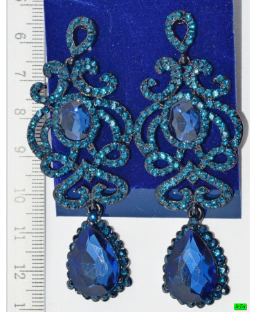 серьги (03-37) синий 1шт.