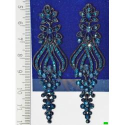 серьги (07-64) синий 1шт.