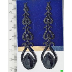 сережки (03-39) чорний 1шт.