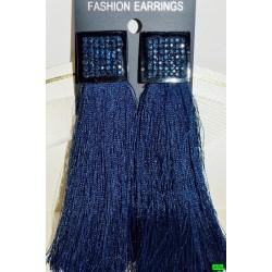 сережки (08-48) синій 1шт.