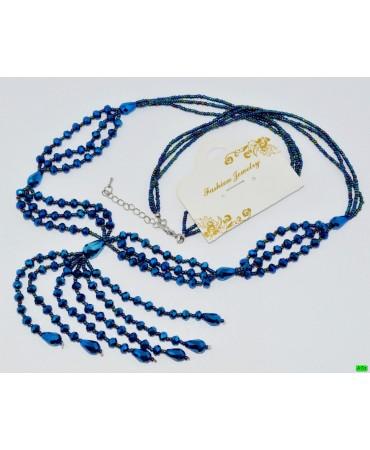 бусы (01-16) синий 1шт.