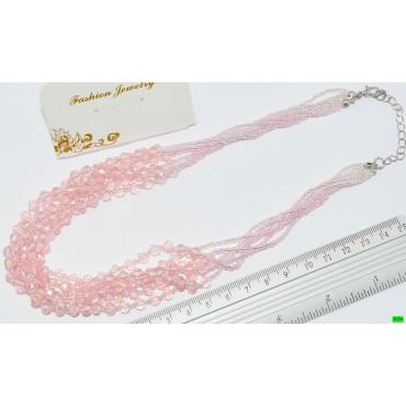 бусы (01-19) розовый 1шт.