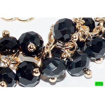 браслет (01-22) чёрный 1шт.