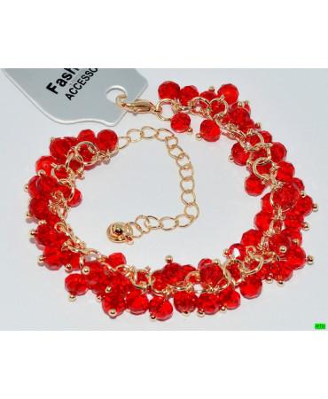 браслет (01-22) красный 1шт.