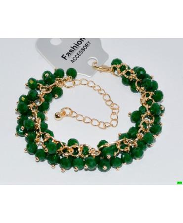 браслет (01-22) зелень 1шт.