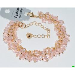 браслет (01-22) розовый 1шт.