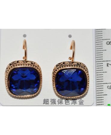 сережки (07-38) синій 1шт.