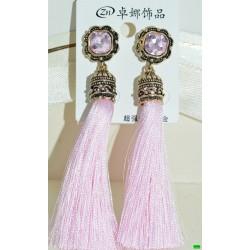 сережки (08-49) рожевий 1шт.